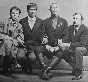 From left to right: Osip Mandelstam, Korney Ch...
