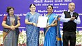 Maneka Sanjay Gandhi presented the National Awards to the Anganwadi Workers for Exceptional Achievement, at a function, in New Delhi. The Secretary, Ministry of Women and Child Development (2).jpg