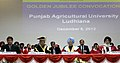 Manmohan Singh at the Golden Jubilee Convocation of Punjab Agricultural University, at Ludhiana. The Governor of Punjab, Shri Shivraj V. Patil, the Chief Minister of Punjab.jpg