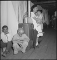 Manzanar Relocation Center, Manzanar, California. A typical interior scene in one of the barrack ap . . . - NARA - 538136.tif