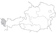 Map of Austria with Bludenz