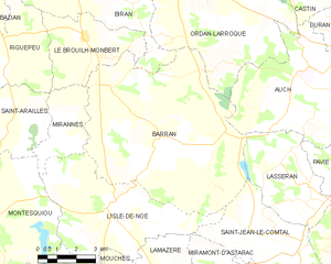 Barran - Barran and its surrounding communes