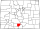 Map of Colorado highlighting Alamosa County.svg