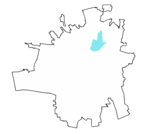 Location of Universitarios Zone.