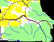 Map of Eagle County, Colorado
