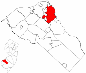 Deptford Township, New Jersey - Image: Map of Gloucester County highlighting Deptford Township