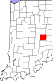 Map of Indiana highlighting Henry County.svg