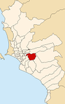 Map of Lima highlighting La Molina.PNG
