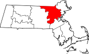 Localização do Condado de Middlesex (Massachusetts)
