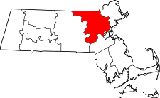 Comitatul Middlesex, Massachusetts  Middlesex County pe harta statului Massachusetts