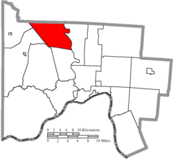 Location of Morgan Township in Scioto County