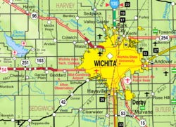 Wichita Ks Map Wichita, Kansas   Wikipedia