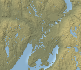 Ringerike (traditional district) - Image: Map of Storelva, Buskerud