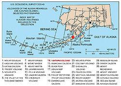 Alaska Map Volcano.Yantarni Volcano Wikipedia