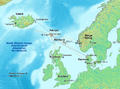 Map of faroe islands in europe, flights and ferries.png