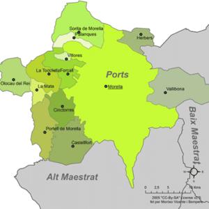 Ports (comarca) - Municipalities of Ports
