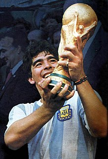 Diego Maradona Argentine football player and manager