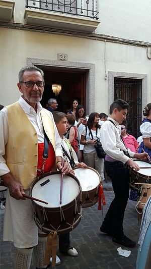 Tabor (instrument) - Valencian tabor player