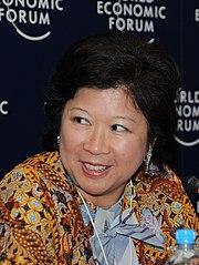 Mari Elka Pangestu en 2008 au Forum Economique Mondial ((c) Wikipedia)