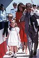 Marilyn Quayle walks from the christening platform with her children after christening the Aegis guided missile cruiser USS VINCENNES.jpg