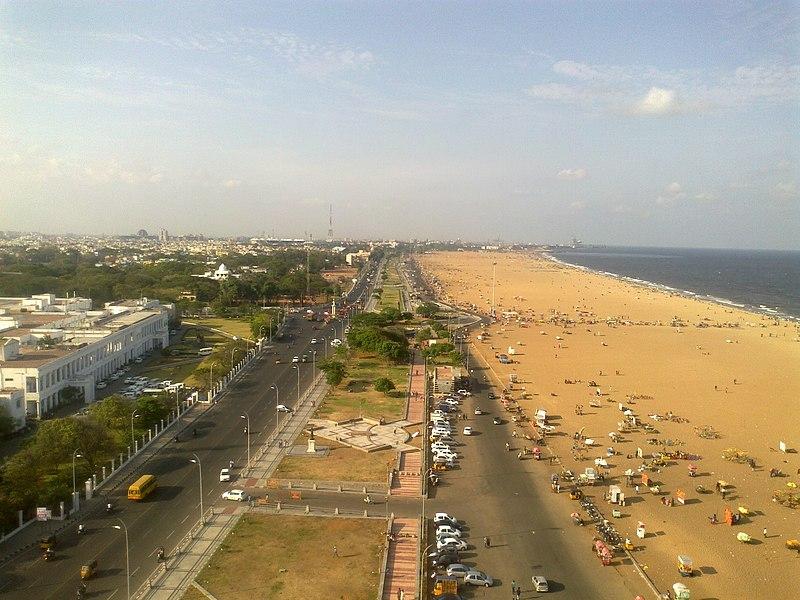 File:Marina Beach road,Chennai.jpg