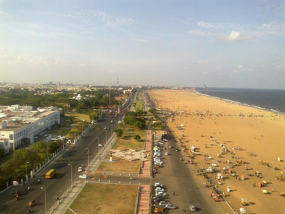 Marina Beach road,Chennai