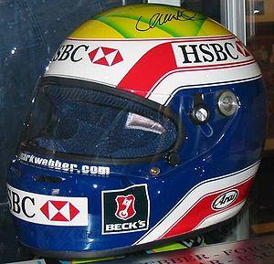 Mark Webber - Webber's 2003 helmet design