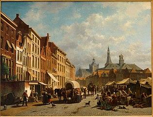 De markt te 's-Hertogenbosch