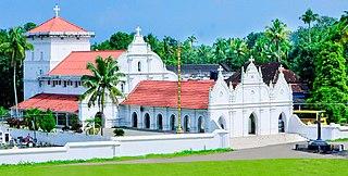 Kuruppampady town in Kerala, India