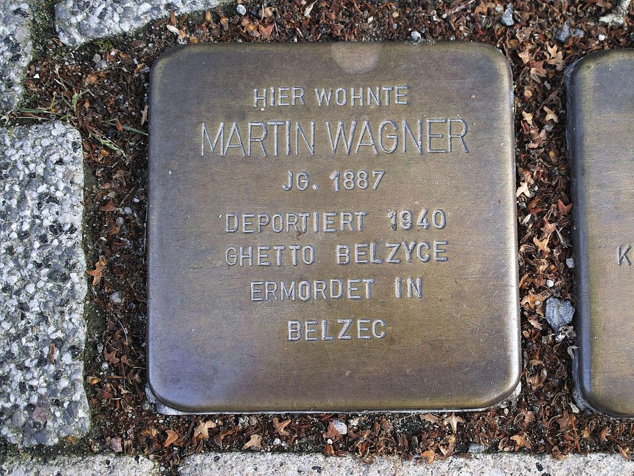 Stolperstein von Martin Wagner, Anklam