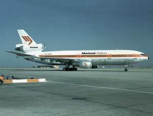 Martinair Flight 495 - The ill-fated aircraft is seen here at Faro Airport in 1985.