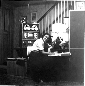LINC - LINC home computer with its software designer, Mary Allen Wilkes, 1965
