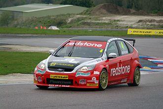 Motorbase Performance - Mat Jackson driving the Motorbase-run Ford Focus ST at the Thruxton round of the 2012 British Touring Car Championship season.
