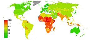 maternal mortality rate map