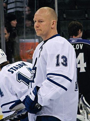 Mats Sundin - Sundin warming up during his final season with the Maple Leafs.