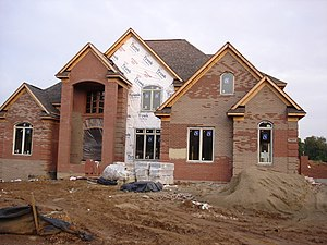 "A ""McMansion"" under construction wit..."