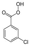 Strukturformel von meta-Chlorperbenzoesäure