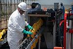 Mechanized boom decontamination deepwater horizon.jpg