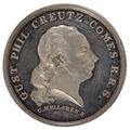 Medalj med Gustaf Filip Creutz i profil - Skoklosters slott - 99397.tif