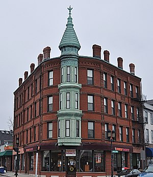 National Register of Historic Places listings in Medford, Massachusetts - Image: Medford MA Bigelow Block