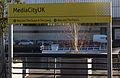 MediaCityUK Metrolink station signpost.jpg