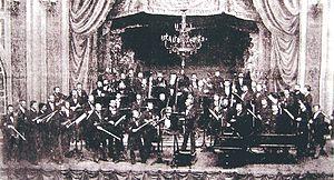 Meiningen Court Orchestra - Meiningen Court Orchestra with Hans von Bülow conducting, 1882