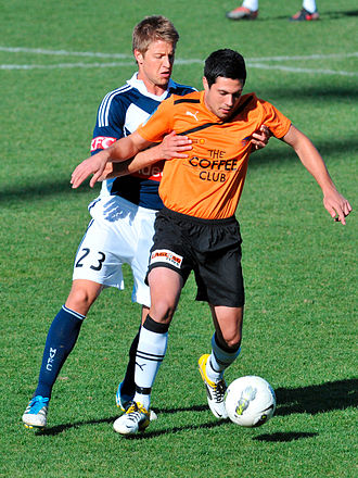 Adrian Leijer - Leijer playing for Melbourne Victory against Brisbane Roar in 2011.