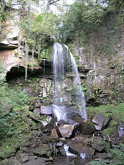 Melin Court Falls - geograph.org.uk - 242278