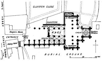 Melrose Abbey - Ground plan of Melrose Abbey