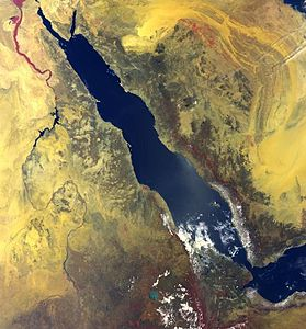 Satellite image of the Red Sea
