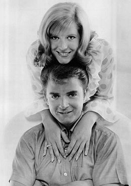 Meredith MacRae Tim Considine My Three Sons 1965.JPG