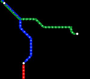 Metro (Minnesota) - Image: Metro Transit MN Current METRO Map
