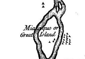 """Mialoquo (Cherokee town) - Mialoquo on Henry Timberlake's 1762 """"Draught of the Cherokee Country"""""""