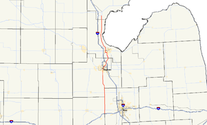 M-13 (Michigan highway) - Image: Michigan 13 map